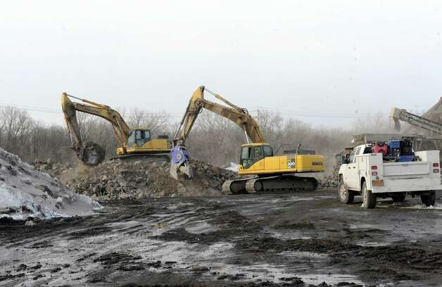 Prep work being done on the site of a $300 million casino and resort planned for an old industrial site along the Mohawk River on Wednesday Feb. 26, 2015 in Schenectady, N.Y. (Michael P. Farrell/Times Union) Photo: Michael P. Farrell