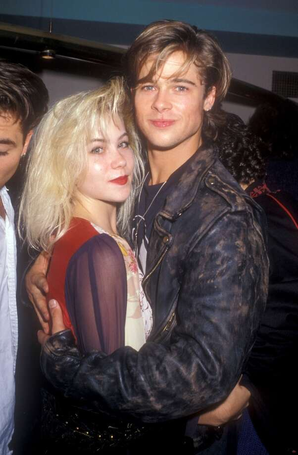 "Before Brad Pitt was super famous, and Christina Applegate was at the height of her ""Married With Children"" fame, these two dated.   She reportedly took him to the MTV Movies Awards — and ditched him. Photo: Barry King, WireImage"