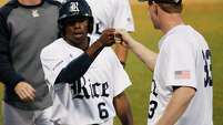 Freshman Ryan Chandler has been one of Rice's best hitters to start the season, batting .378 through nine games.