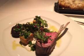 Jardiniere: Lamb chops with shoulder, belly, cubes of panisse and chimichurri ($34).