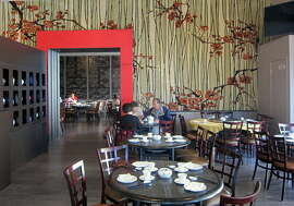 One of the three main dining areas at Dragon Beaux, in San Francisco's Richmond District.