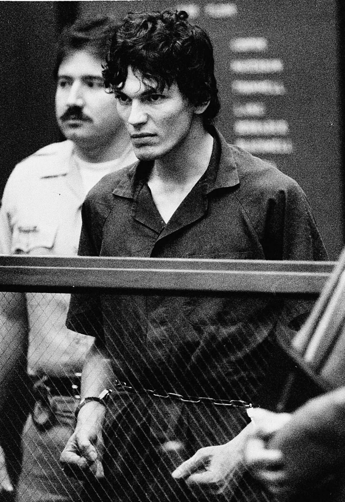 Richard Ramirez Ramirez was convicted in 1989 for 13 counts of murder. His crimes took place in California between 1984 and 1985. He died in 2013 of cancer while on death row.