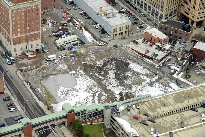 Site of the future Albany Convention Center is viewed from Corning Tower Monday afternoon, Dec. 15,