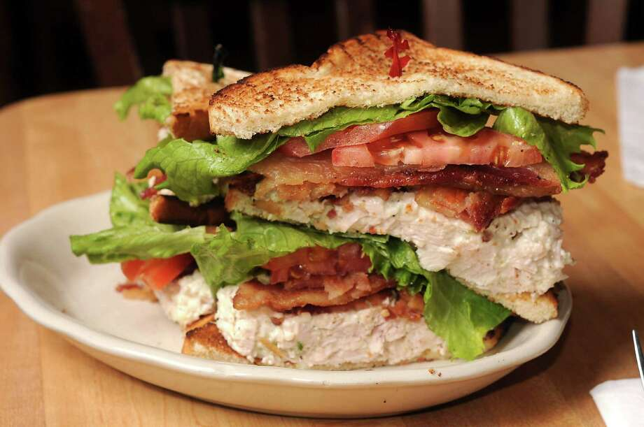 The new Ken Hoffman sandwich at Kenny & Ziggy's New York Delicatessen features chicken salad and lots of bacon. Photo: Dave Rossman, Freelance / Freelalnce