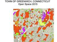 This map, provided by the town of Greenwich, shows undeveloped parcels of land in town and their classification.