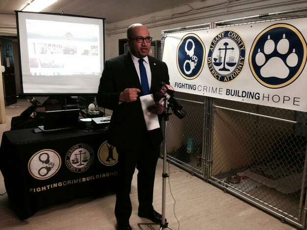 Albany County District Attorney David Soares makes an announcement regarding his Animal Cruelty Taskforce on Friday, Feb. 27, 2015, in Menands, NY. (Lori Van Buren/Times Union)?