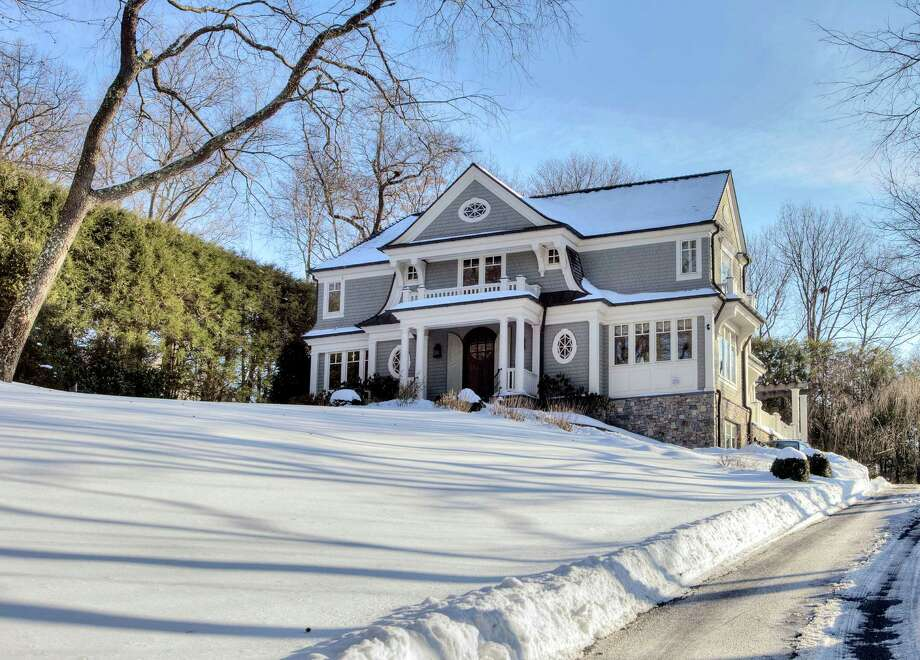 The property at 100 Goodwives River Road is on the market for $3,295,000. Photo: Contributed Photo / Darien News