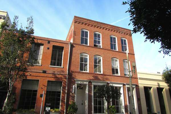 The Solari Buildings East and West, located in the Jackson Square district. They are two of San Francisco's oldest buildings, constructed in 1852.
