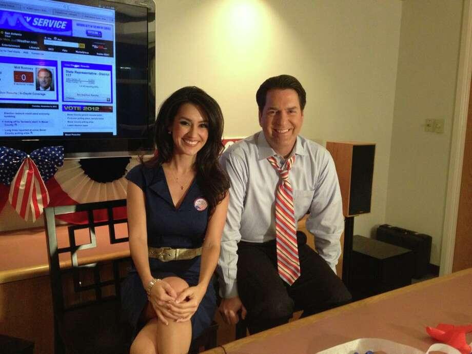 Isis Romero and Steve Spriester co-anchor KSAT-TV's's first-place 10 p.m. news hour. Photo: Courtesy Photo / KSAT