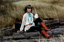"TURQUOISE/LACE: Taylor Hammonds of Neal Hamil Agency is wearing a 4 Love & Liberty top, $255; Hudson Jeans, $198; Juan Antonio Belt, $249; Lucchese Saratoga Boots, $1295; All from Lucchese in Highland Village.   Her jewelry is from Jay Landa Jewelry in Rice Village: American Indian necklace, $650; J. Landa ""One of a Kind"" necklace, $245; J. Landa blue lace agate necklace, $120; Old pawn necklace, $550; Federico earrings, $295; Navajo cuff, $440; and Dian Malouf ring $620.   Taylor's Last Tango tank, $35; Montecarlo Hat Co. hat, $35, ring, $198;  are from Pinto Ranch.  Hair and makeup: Tree Vaello. Fashion styling: Joy Sewing. Intern: Mary Anderson"