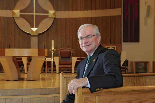 Deacon Dick Thiesen sits in the newly renovated sanctuary at Christ Our Light Catholic Church on Wednesday, Feb. 25, 2015 in Loudonville, N.Y. Deacon Dick is the Parish Life Director at the church. (Lori Van Buren / Times Union) Photo: Lori Van Buren / 00030641A