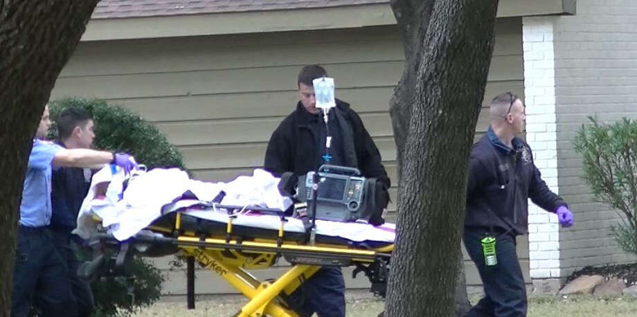 A 3-year-old victim was airlifted to the hospital after a shooting in the 7400 block of Betanna Lane on Friday. Photo: Steve Harris / handout