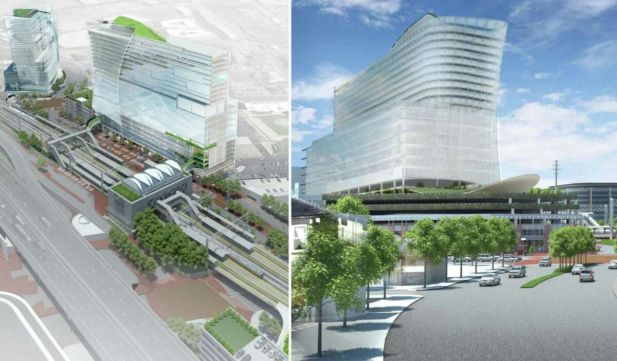 Artists renderings of plans for the redevelopment of the Stamford train station in Stamford, Conn. May 2, 2014.