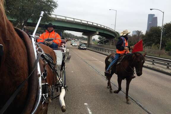 The Northeastern Trail Riders on Memorial Drive.