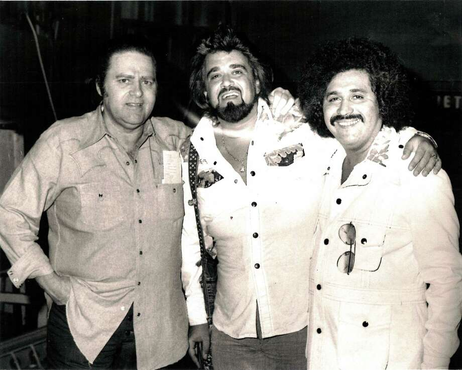 Huey Meaux, Wolfman Jack, and Freddy Fender. / Handout