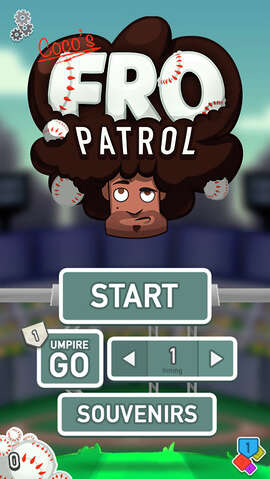 "Meet the new grand slam game from Baseball legend, Covelli ""Coco"" Crisp: Coco's Fro Patrol! Bring your A-game straight to the plate in this quirky ball-catching blitz - all based on Coco Crisp's most distinguishing feature…"