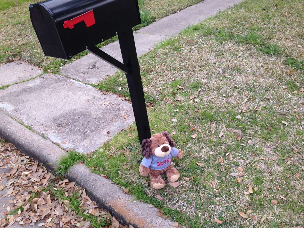 A teddy bear was left at the home where the child was shot in the 7400 block of Betanna Lane.