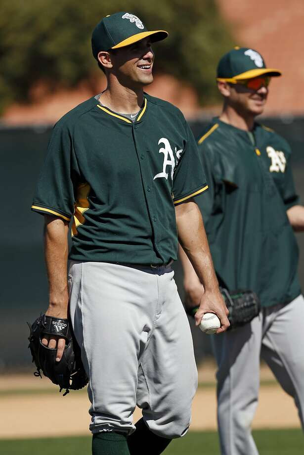 Oakland A's Brad Mills during Spring Training at Fitch Park in Mesa, Arizona, on Friday, February 27, 2015. Photo: Scott Strazzante, The Chronicle
