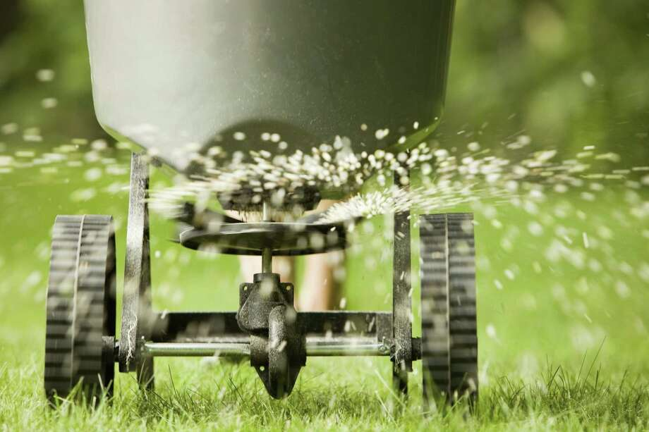 Hold off fertilizing the lawn until late April. Important chores now are aerating and applying pre-emergent herbicide to control sand burs. Photo: Getty Images / (c) BanksPhotos