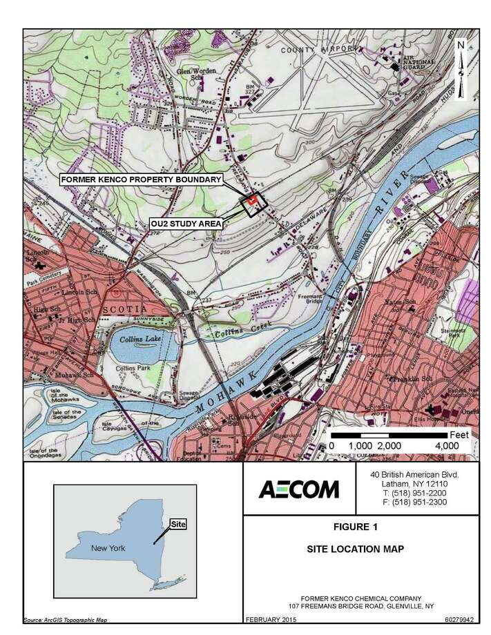 This is a map of the cleanup area of the former Kenco Chemical site in Glenville. (Provided by the DEC.)
