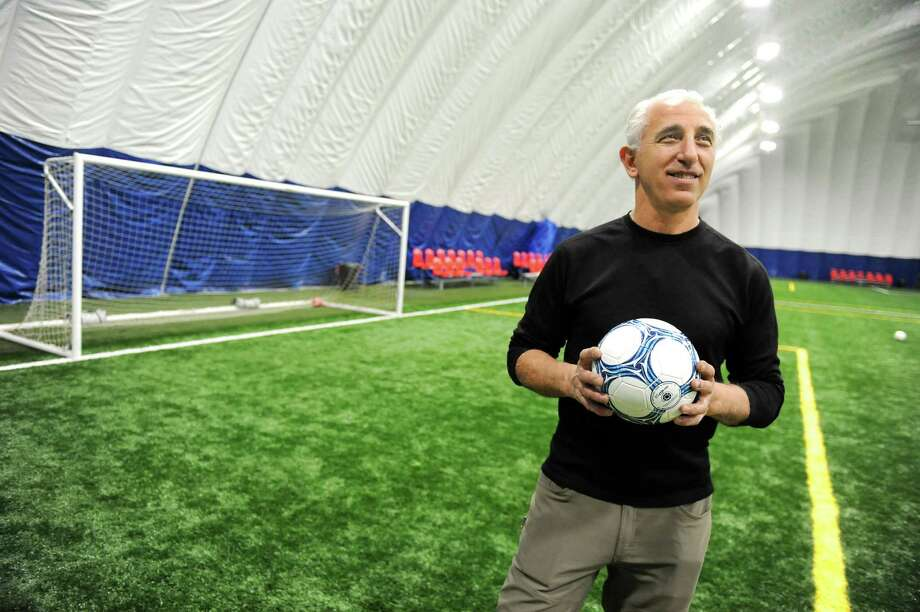 Owner Afrim Nezaj inside his newest indoor soccer complex on Friday, Feb. 27, 2015, at Afrim's Sports in Bethlehem, N.Y. (Cindy Schultz / Times Union) Photo: Cindy Schultz / 00030773A