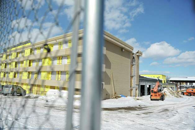 A view of the former Holiday Inn which will become a Double Tree hotel, seen here on Wednesday, Feb. 25, 2015, in Schenectady, N.Y.     (Paul Buckowski / Times Union) Photo: PAUL BUCKOWSKI / 00030762A