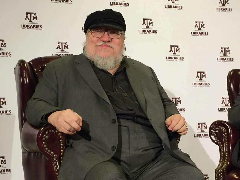 """Game of Thrones"" author George R.R. Martin prepares to speak at Texas A&M University on February 27, 2015. Photo: Benjamin Wermund / Houston Chronicle"