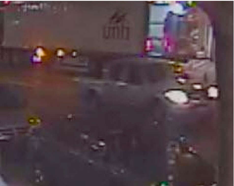 An image taken from security camera footage shows a silver pickup truck involved in a crash-and-grab heist around 4:30 a.m. Friday on the 1600 block of California Street. Photo: Courtesy Of San Francisco Police / Courtesy Of San Francisco Police / ONLINE_YES
