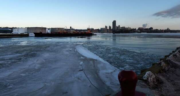 The Hudson River in the Port of Albany is full of ice Friday morning Feb. 27, 2015 in Albany, N.Y.      (Skip Dickstein/Times Union) Photo: SKIP DICKSTEIN / 00030798A