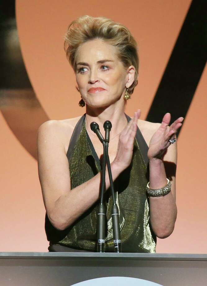 Sharon Stone, 56, speaks onstage during the Producers Guild of America Awards on Jan. 24, 2015 in Los Angeles. Photo: Mark Davis, Getty Images / 2015 Getty Images