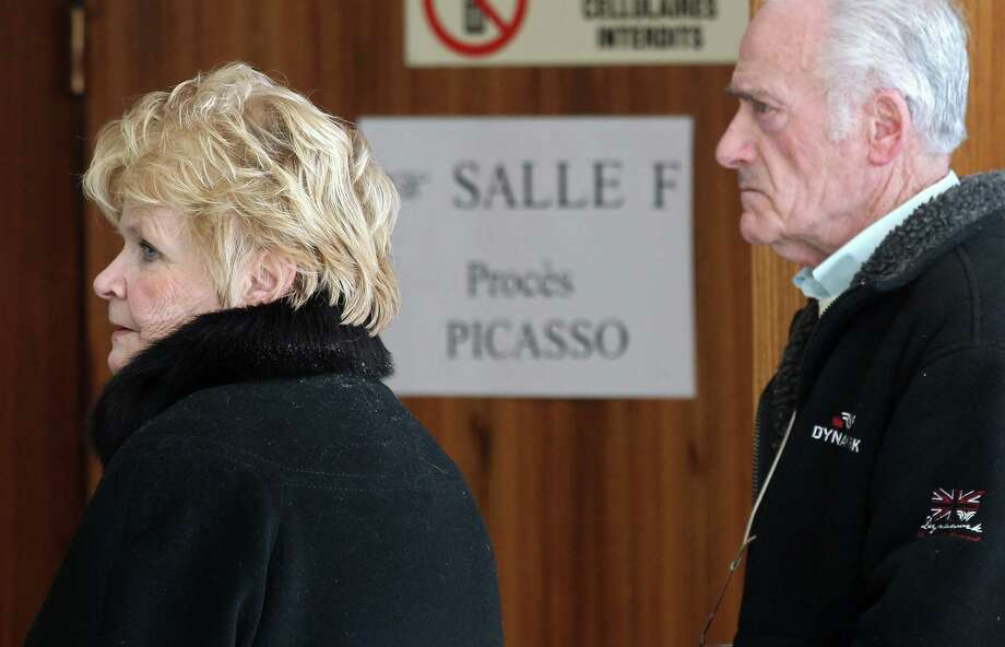 Pierre Le Guennec and his wife, Danielle, arrive at Grasse criminal court on Wednesday. Photo: Lionel Cironneau / Associated Press / AP