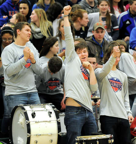 Broadalbin's pep band cheers for their team during their Class B boys basketball game against Voorheesville on Friday, Feb. 27, 2015, at Shenendehowa High in Clifton Park, N.Y. (Cindy Schultz / Times Union) Photo: Cindy Schultz / 00030778A