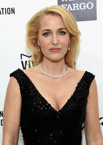 Gillian Anderson, 46, attends an Academy Awards viewing party on Feb. 22, 2015 in Los Angeles. Photo: Jamie McCarthy, Getty Images / 2015 Getty Images