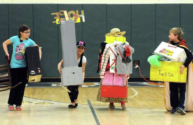 Schoharie Elementary school students get ready for their performance during the 2015 Odyssey of the Mind Tournament at Shenendehowa High School on Saturday Feb. 28, 2015 in Clifton Park, N.Y. (Michael P. Farrell/Times Union) Photo: Michael P. Farrell / 00030818A