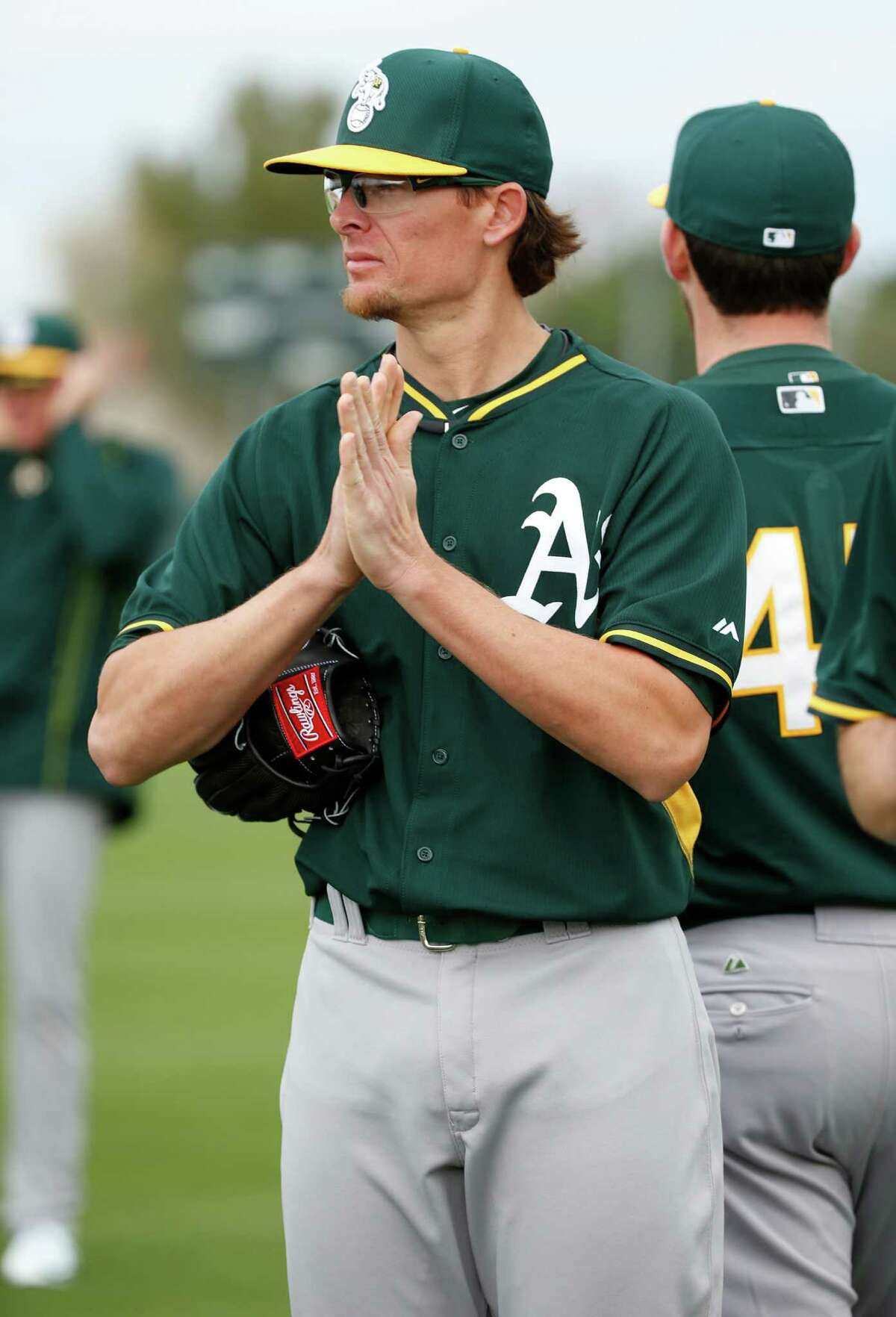 Oakland A's Tyler Clippard during Spring Training in Mesa, Arizona, on Monday, February 23, 2015.