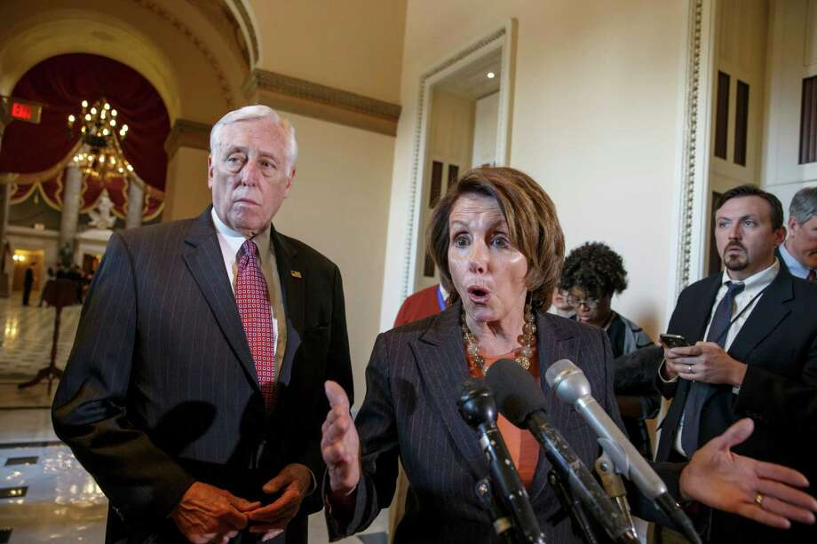 On Friday, House Democratic Leader Nancy Pelosi of California voices her objections to a delay in a vote to fund the DHS. Photo: J. Scott Applewhite / Associated Press / AP
