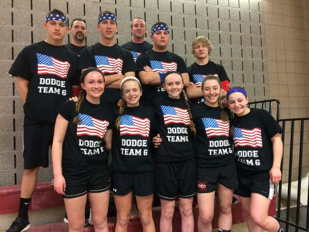 One of the teams competing in Friday's Dodgeball tournament at Guilderland High School, which raised more than $2,000 for the Altamont Food Pantry.