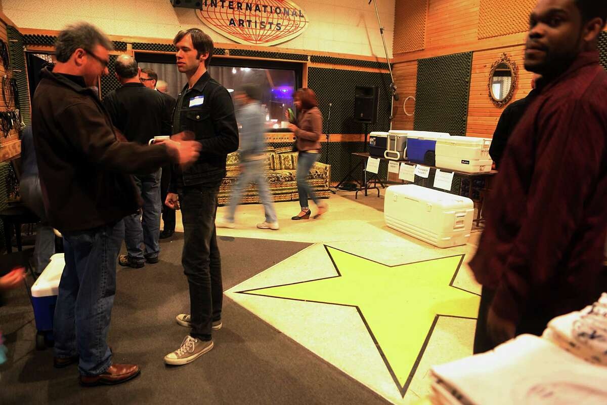 The public tours the Sugarhill Recording Studio during their open house on Saturday, Feb. 28, 2015, in Houston.