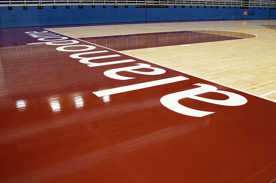 The Alamodome court that will be put into use for the 2015 UIL state championship tournament. Photo: Courtesy, Courtesy Photo
