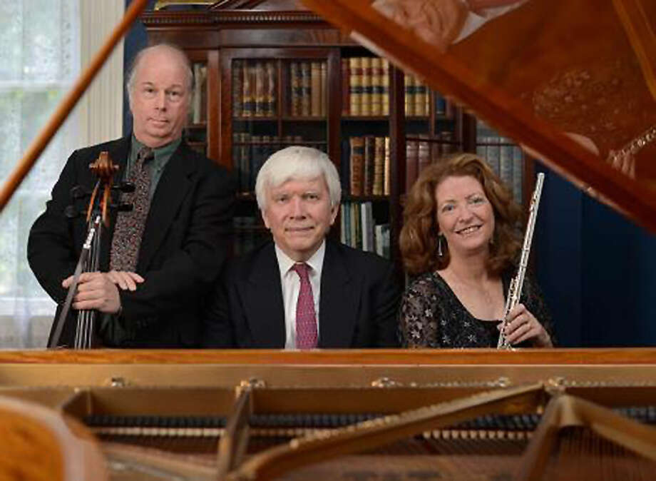 The Broad Street Chamber Players ? flutist Elizabeth Chinery, pianist David Smith, and cellist Jay Shulman ? will perform works by Handel, Saint-Saens, Haydn and other composers at the Guilderland Public Library at 2 p.m. Sunday, March 8. (Photo provided)