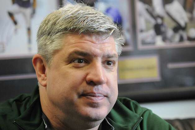 Siena basketball coach Jimmy Patsos in his office at the ARC on Thursday Feb. 26, 2015 in Loudonville, N.Y. (Michael P. Farrell/Times Union) Photo: Michael P. Farrell / 00030749A