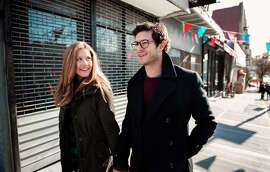"""Lisa Joyce as Billie and Adam Brody as her no-longer-hated stepbrother, Billy, in """"Billy & Billie."""""""