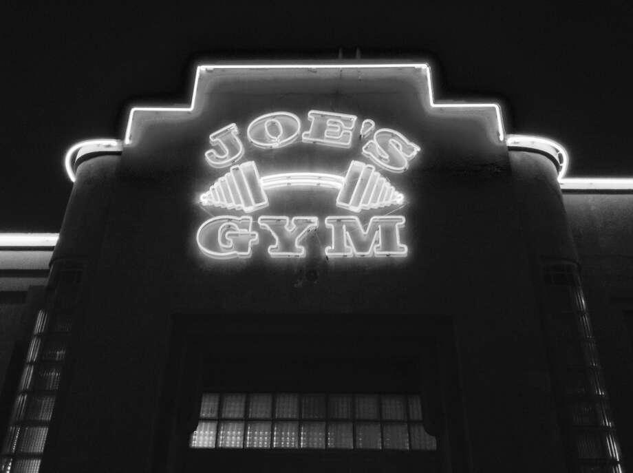 Fitness obviously is a weighty subject at Joe's Gym in the 1700 block of Fredericksburg Road. Photo: Robert Kolarik, San Antonio Express-News