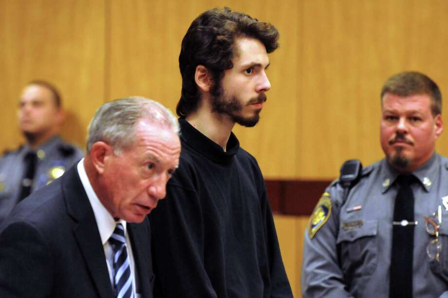 Wesleyan University senior Eric Lonergan, 22, stands during arraignment at Middletown, Conn., Superior Court on charges of possession of controlled substances and. Photo: Patrick Raycraft / Associated Press / Pool The Hartford Courant
