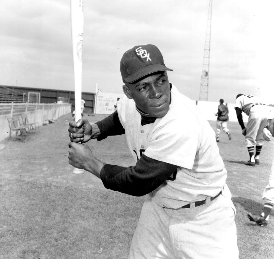 Minoso, seen in spring training, is one of two players, with Nick Altrock, to play in a major league game in five decades. Photo: Associated Press / AP