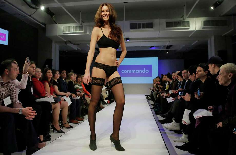 "The 2015 CURVExpo and Invista sleepwear, loungewear and swim collections are modeled during the 2nd annual Lingerie Fashion Night, ""Romancing the Runway,"" in New York,  Monday, Feb. 23, 2015. Photo: Richard Drew, AP / AP"
