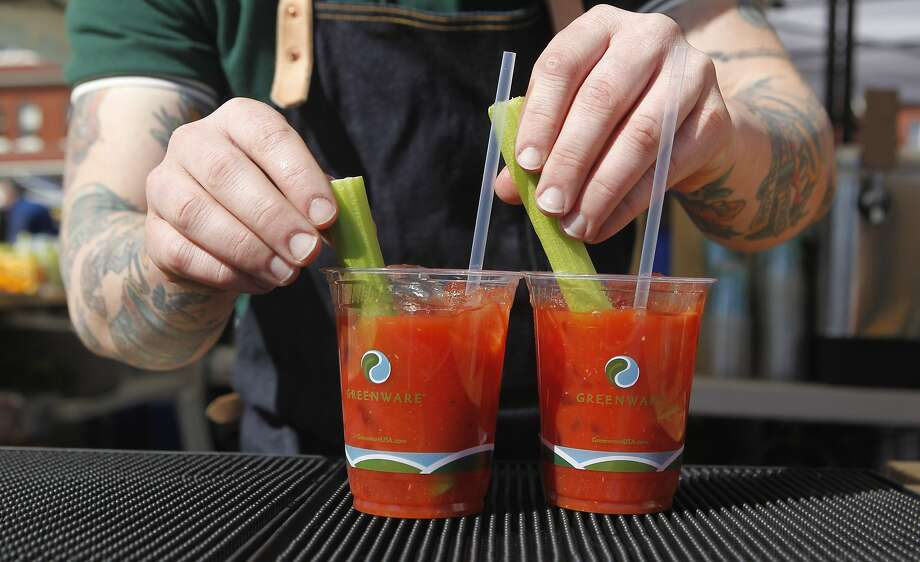 Nothing hits the spot on a Sunday morning quite like a Bloody Mary. Photo: Jessica Christian, The Chronicle