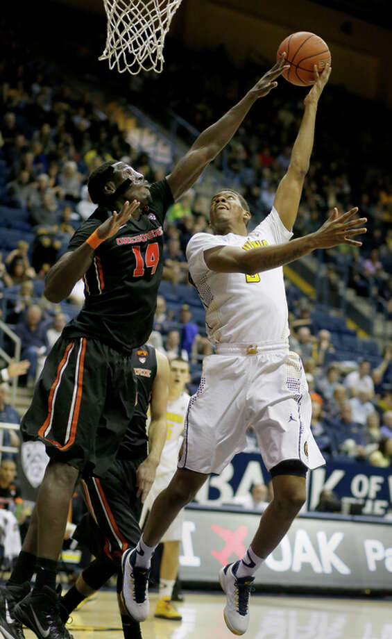 Cal's Tyrone Wallace has scored at least 20 points 10 times this season. Photo: Brant Ward / The Chronicle / ONLINE_YES