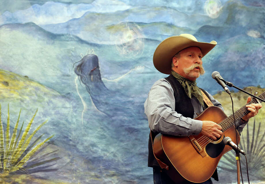 Jeff Gore performs during the 29th annual Texas Cowboy Poetry Gathering held Friday Feb. 28, 2015 at Sul Ross State University in Alpine, Tx. Photo: Edward A. Ornelas, San Antonio Express-News / © 2015 San Antonio Express-News
