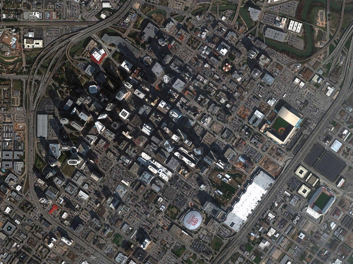 New high-resolution satellite imagery of Houston from DigitalGlobe.